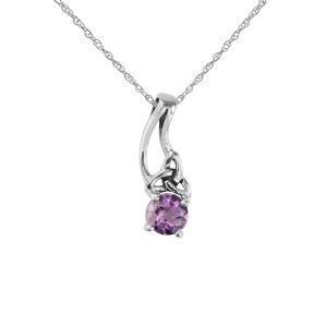 Celtic Silver Pendant with Amethyst 9266